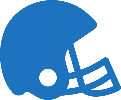 football-helmet-blue